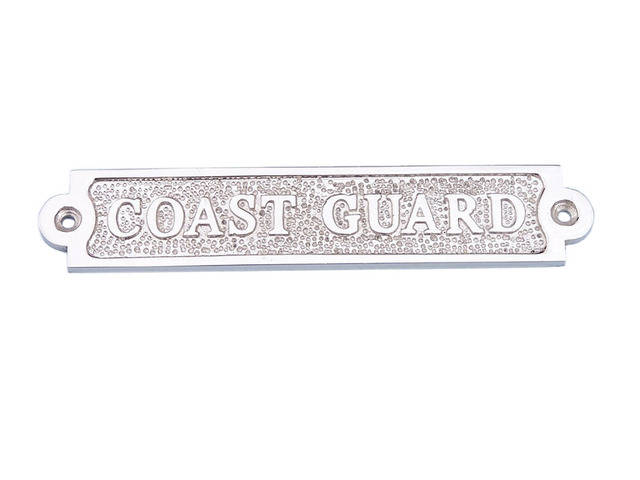 Chrome Coast Guard Sign 6