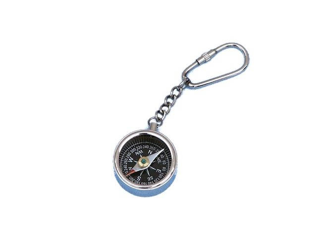 Chrome Compass Key Chain  5