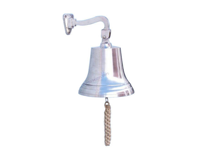 Chrome Hanging Ships Bell 15