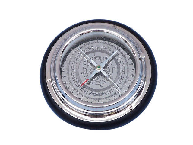 Chrome Directional Desktop Compass 6