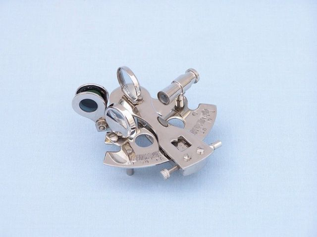 Chrome Decorative Sextant Paperweight 3