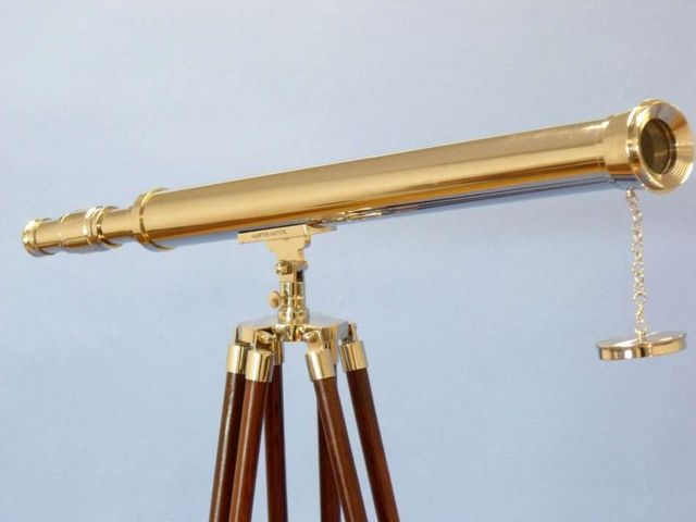 Floor Standing Chrome Harbor Master Telescope 60