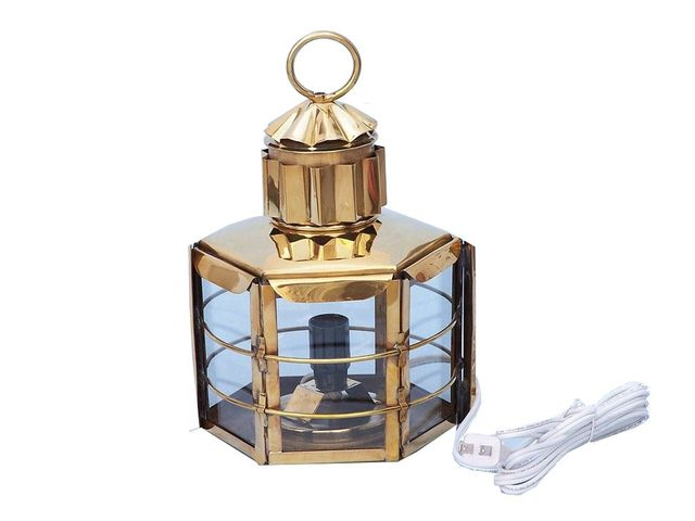Solid Brass Clipper Electric Lamp 15
