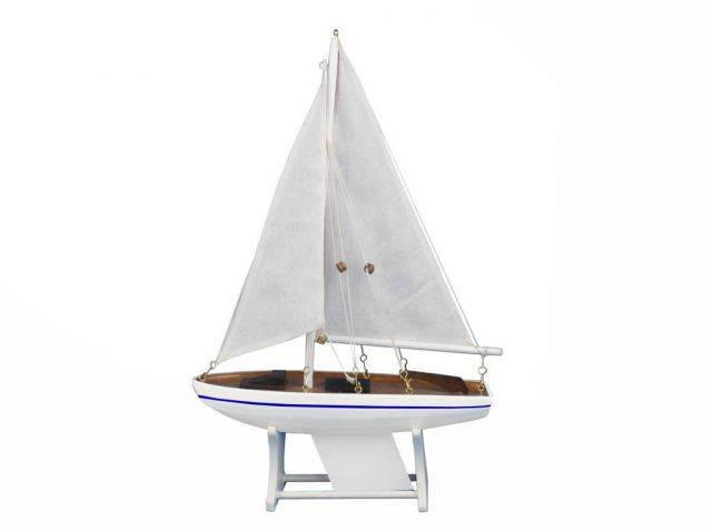 Wooden It Floats Calm Seas Model Sailboat 12