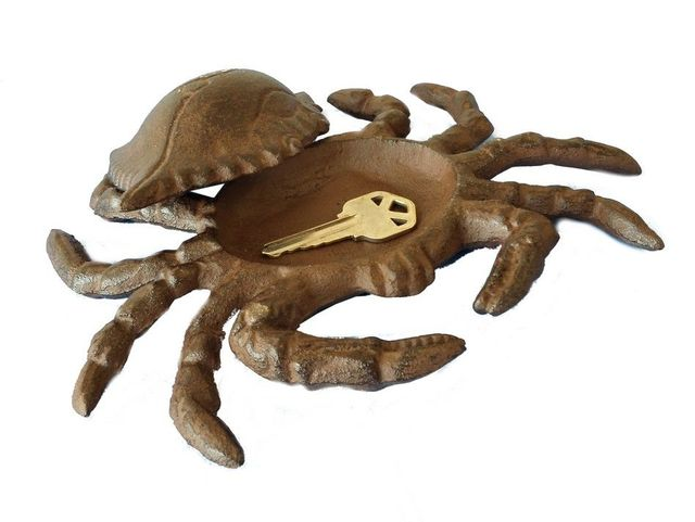 Rustic Cast Iron Blue Crab Hide A Key 6