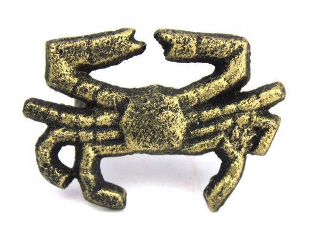 Antique Gold Cast Iron Crab Napkin Ring 2.5 - set of 2