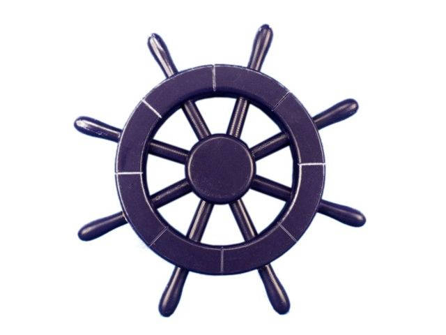 Dark Blue Ship Wheel 12