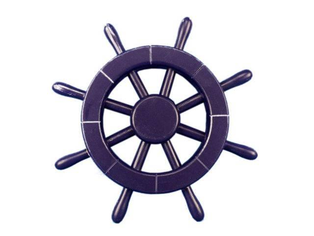 Dark Blue Decorative Ship Wheel 12