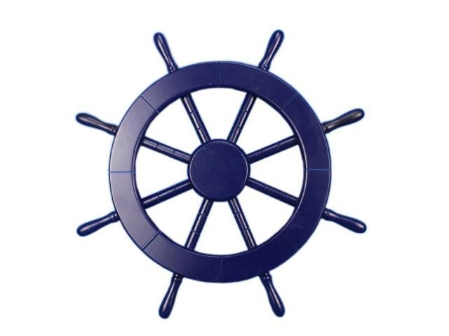Dark Blue Decorative Ship Wheel 18