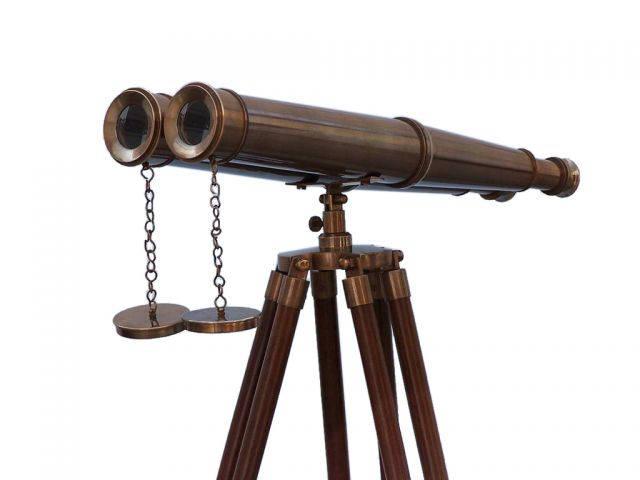 Floor Standing Admirals Antique Brass Binoculars 62