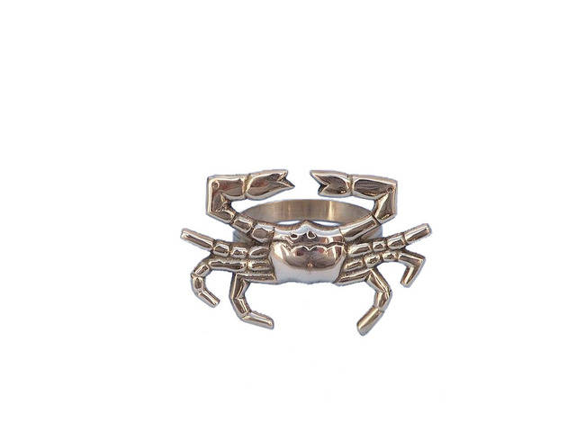 Brass Crab Napkin Ring 3