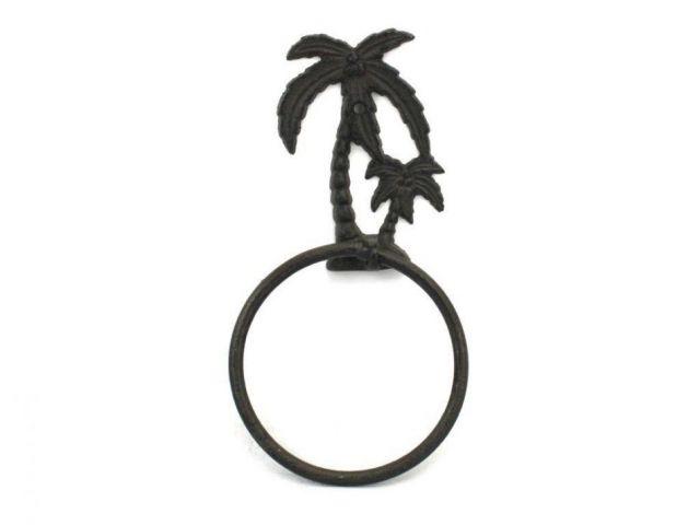 Cast Iron Palm Tree Towel Holder 9