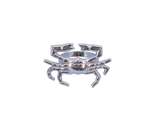 Chrome Crab Napkin Ring 3