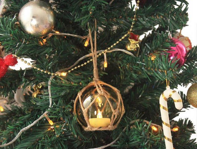 Japanese Christmas Tree.Details About Led Lighted Amber Japanese Glass Ball Fishing Float With Brown Netting Christmas