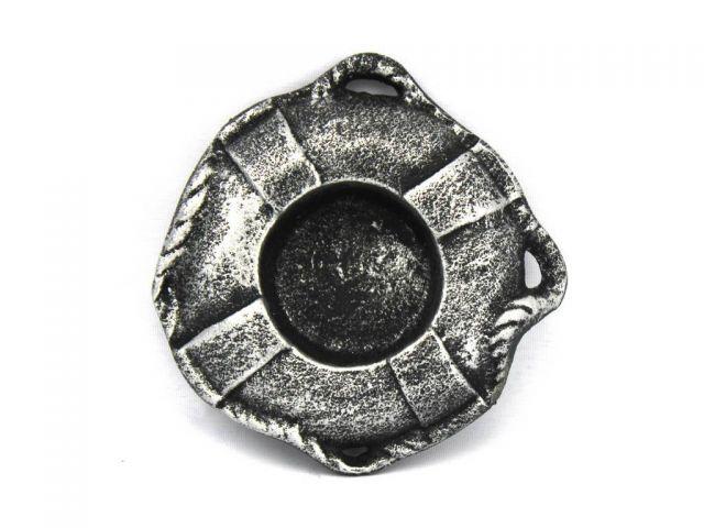Antique Silver Cast Iron Lifering Decorative Tealight Holder 4
