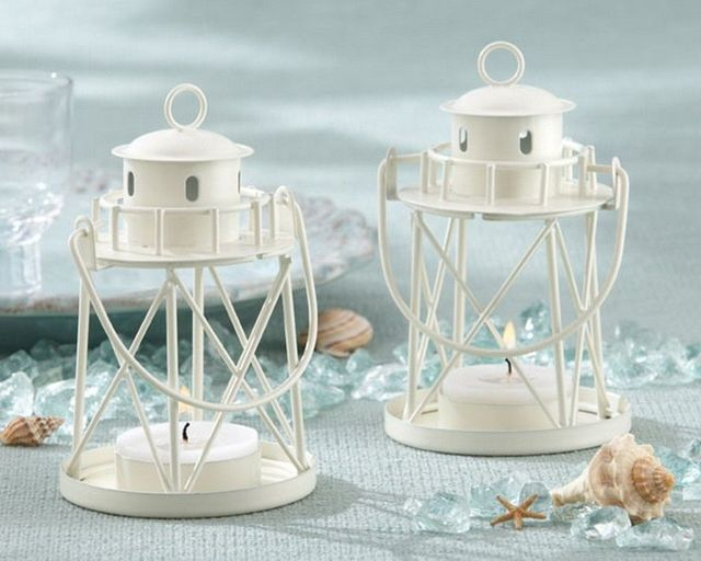 Metal Lighthouse Tealight Holder  4.5