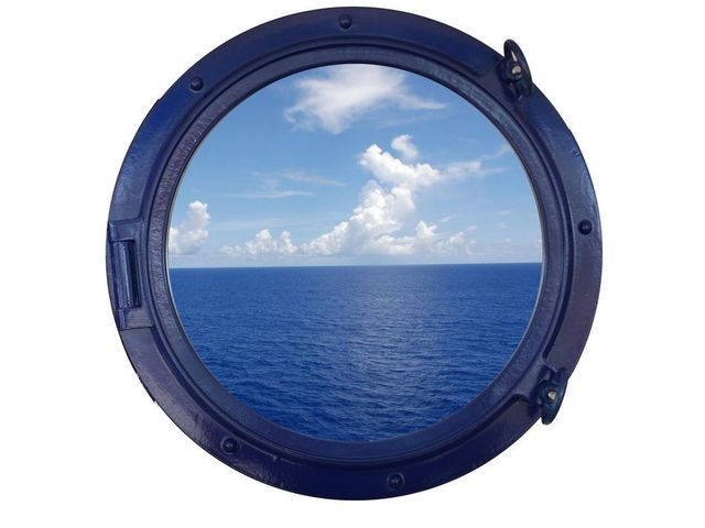 Navy Blue Porthole Window 24