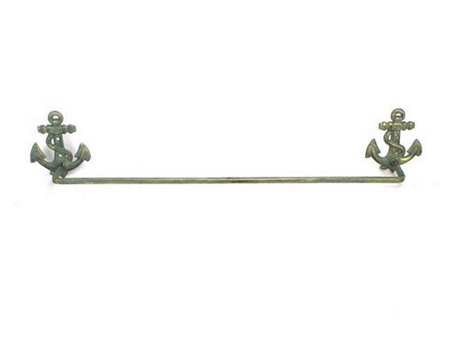 Antique Bronze Cast Iron Anchor Bath Towel Holder 28
