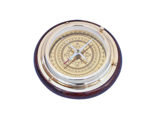 Brass Directional Desktop Compass 6