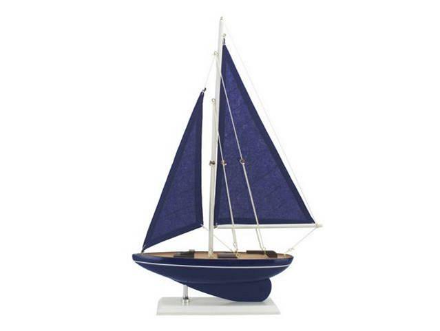 Wooden Deep Blue Sea Model Sailboat 17
