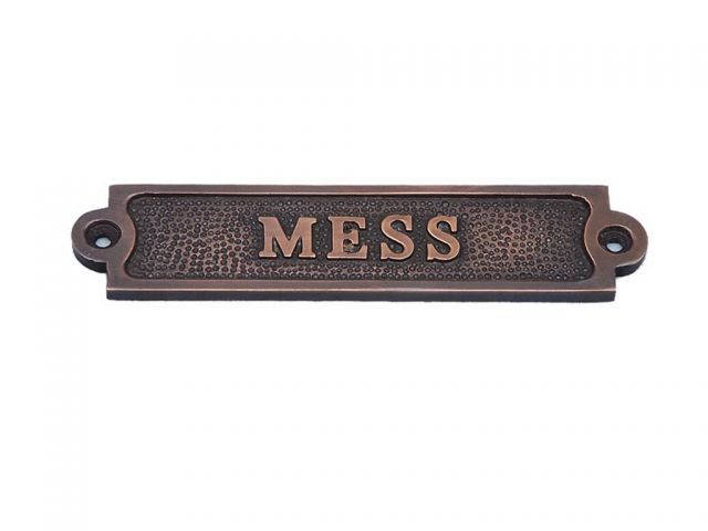 Antique Copper Mess Sign 6