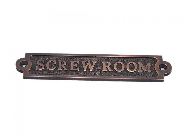 Antique Copper Screw Room Sign 6
