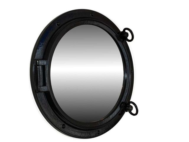 Gloss Black Decorative Ship Porthole Mirror 15
