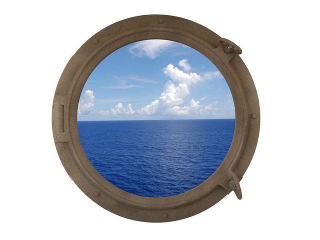 Sandy Shore Decorative Ship Porthole Window 24