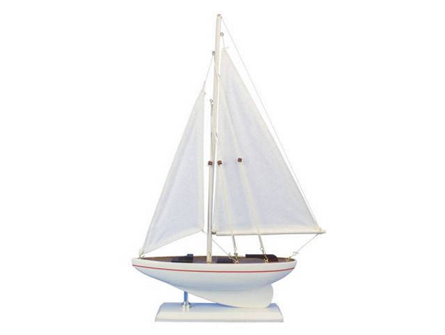 Wooden Intrepid Model Sailboat 17
