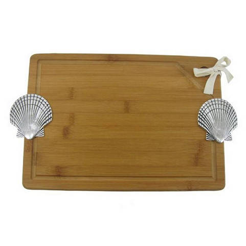 Bamboo Cutting Board with Seashell 16