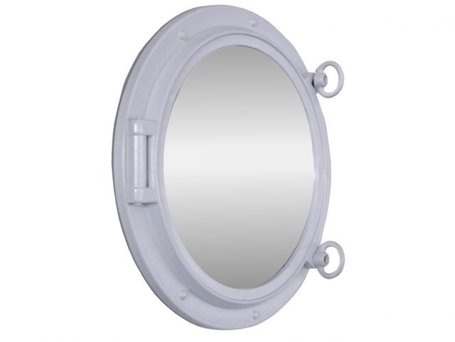 Gloss White Decorative Ship Porthole Mirror 15