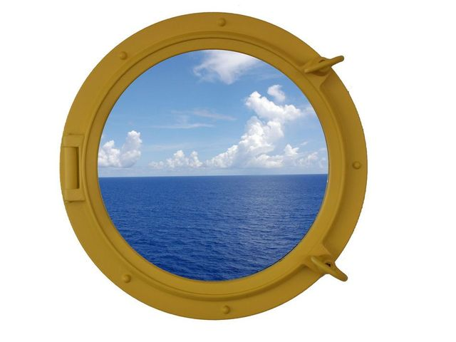 Yellow Decorative Ship Porthole Window 15