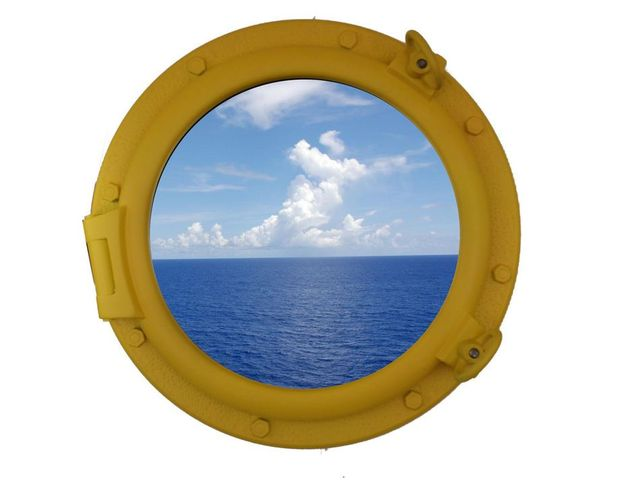 Yellow Decorative Ship Porthole Window 20