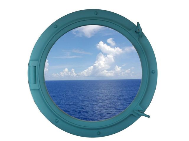 Light Blue Decorative Ship Porthole Window 24