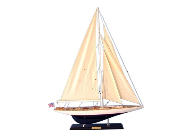 Wooden Modern Enterprise Limited Model Sailboat Decoration 35