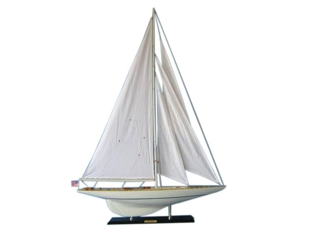 Wooden Rainbow Limited Model Sailboat Decoration 50