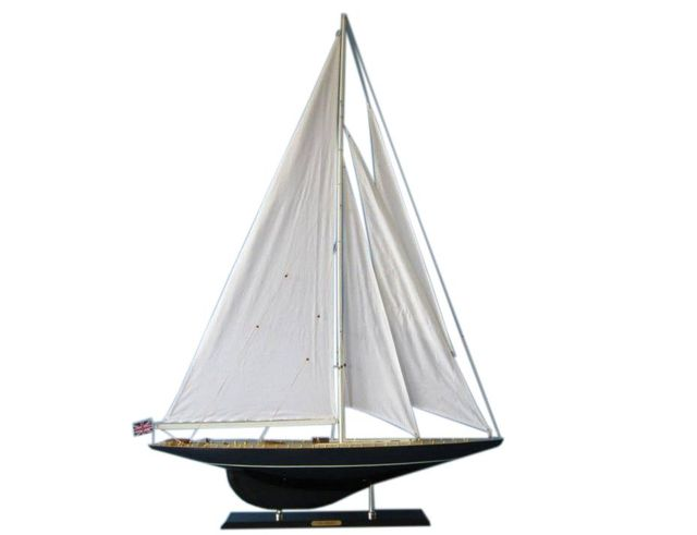 Wooden Velsheda Limited Model Sailboat Decoartion 50