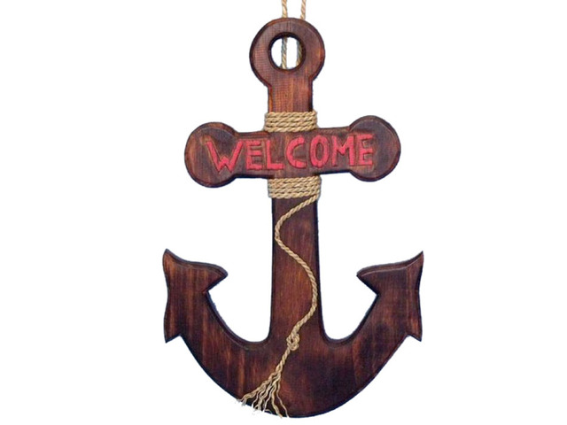 Wooden Welcome Anchor 20