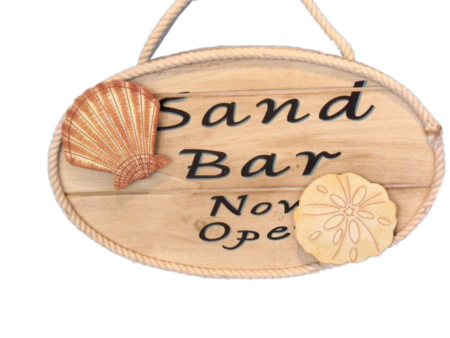 Wooden Sand Bar Now Open Sign 15