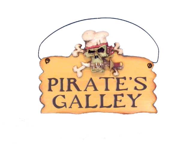 Wooden Pirates Galley Sign 8