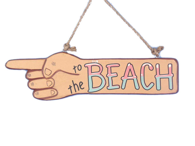 Wooden To the Beach Sign 13 - Two Sided