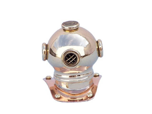 Brass-Copper Decoraitve Diving Helmet Paperweight 3