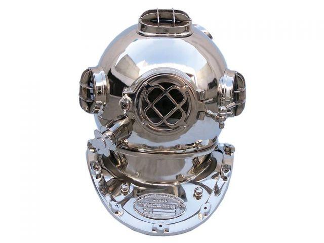 Chrome Decorative Divers Helmet 19