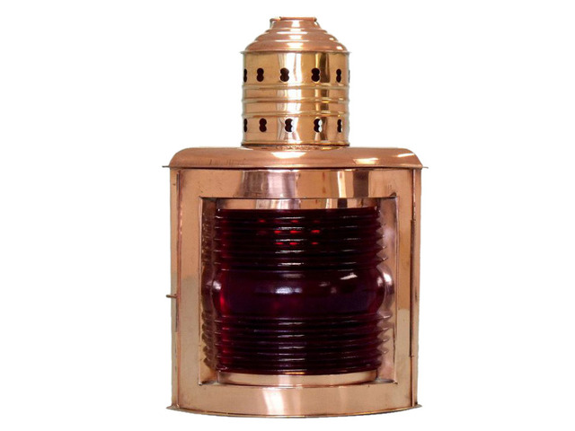 Copper Port Red Ship Lantern 12