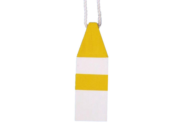 Wooden Yellow Maryland Decorative Crab Trap  Buoy 8