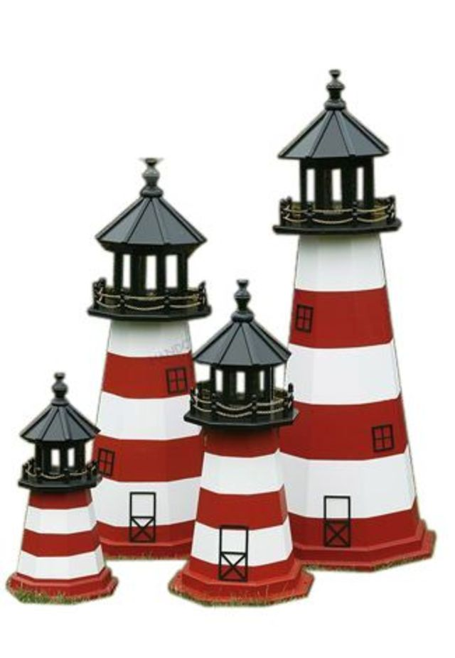 Assateague Electric Painted Wooden Lighthouse 96