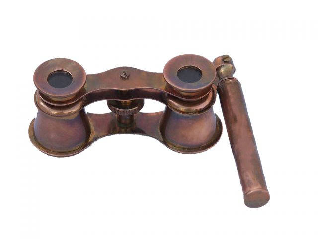 Scouts Antique Copper Binocular With Handle 4