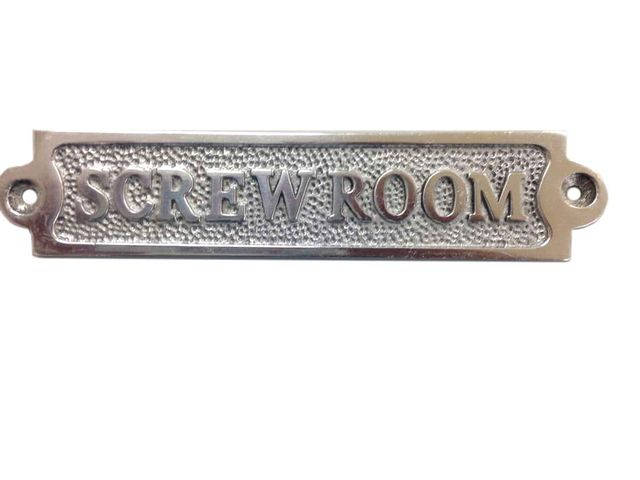 Chrome Screw Room Sign 6