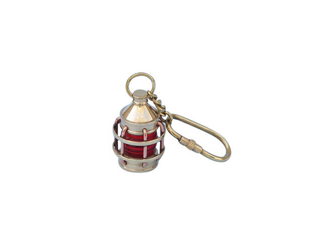 Solid Brass Anchor Red Lantern Key Chain 5