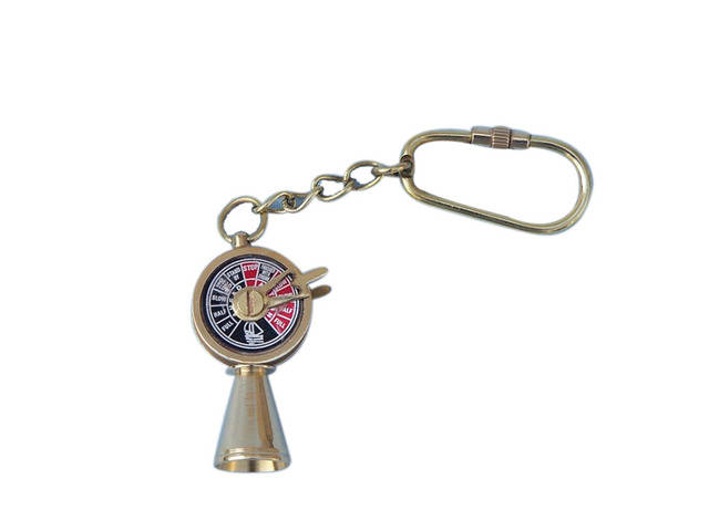 Solid Brass Titanic Engine Telegraph Keyring 5